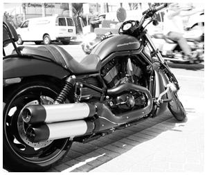 Front Row Biker Parking