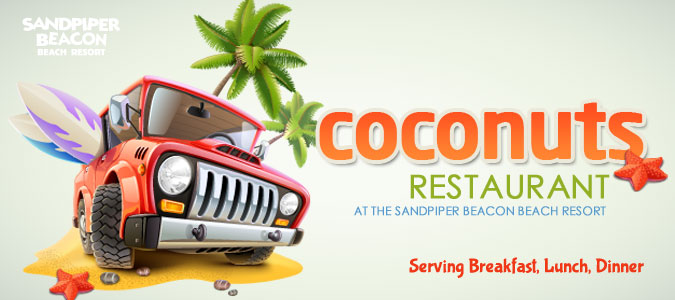 coconuts restaurant, panama city beach