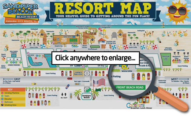 sandpiper beacon beach resort hotel map